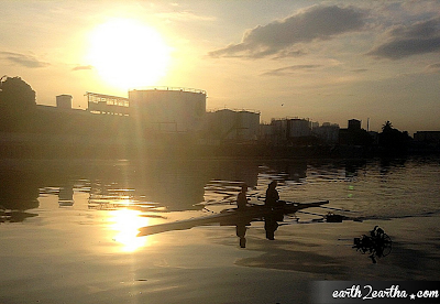 Rowing at Pasig River Sunrise