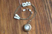 Antique Brass Locket Necklace by hotGlued