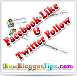 Add Facebook Like and Twitter Follow Button Below Blog Post