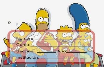 http://etiquetasparacuadernos.blogspot.com/2014/07/los-simpson-en-el-sofa.html