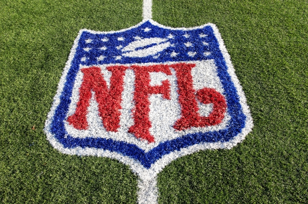 nfl logo on turf