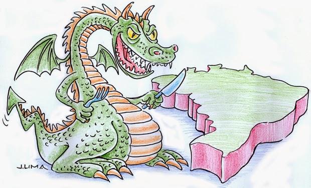 Charge: Dragão da Inflação se preparando para devorar o Brasil (país)