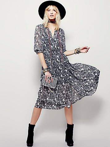 free people butterfly dress, free people maxi dress,