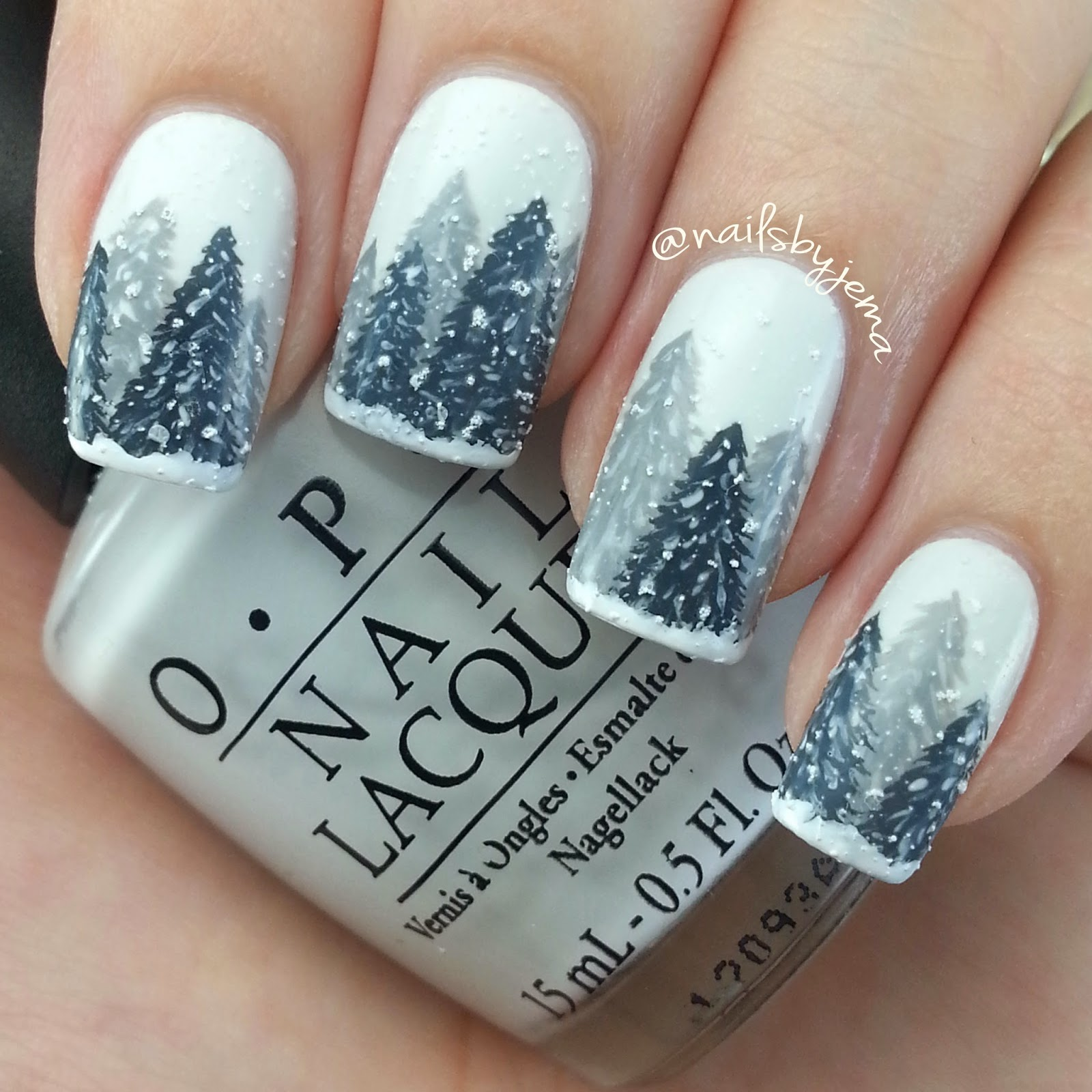 N A I L S B Y J E M A: Winter Wonderland Nails AKA My Favorite ...