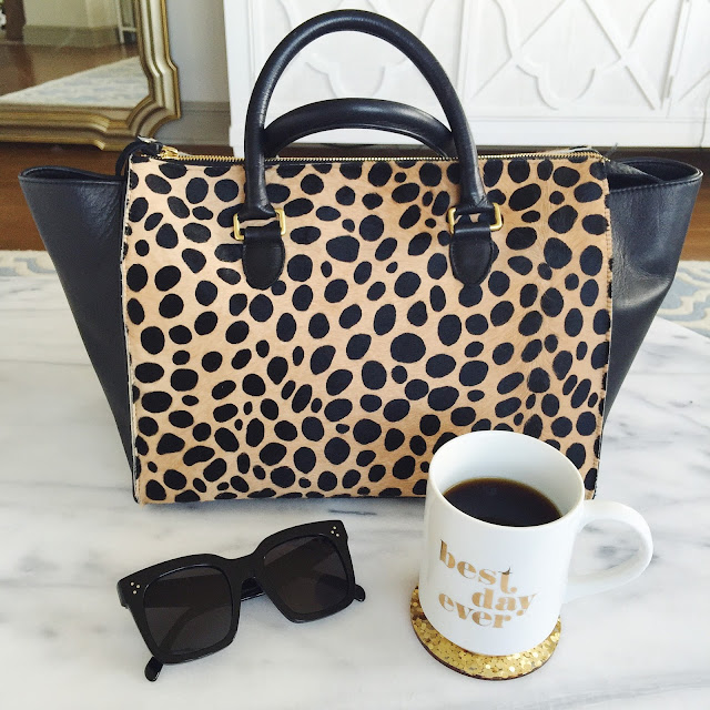 Clare V leopard sandrine tote