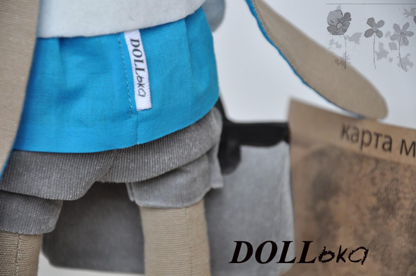 Заяц путешественник текстильная игрушка ручной работы