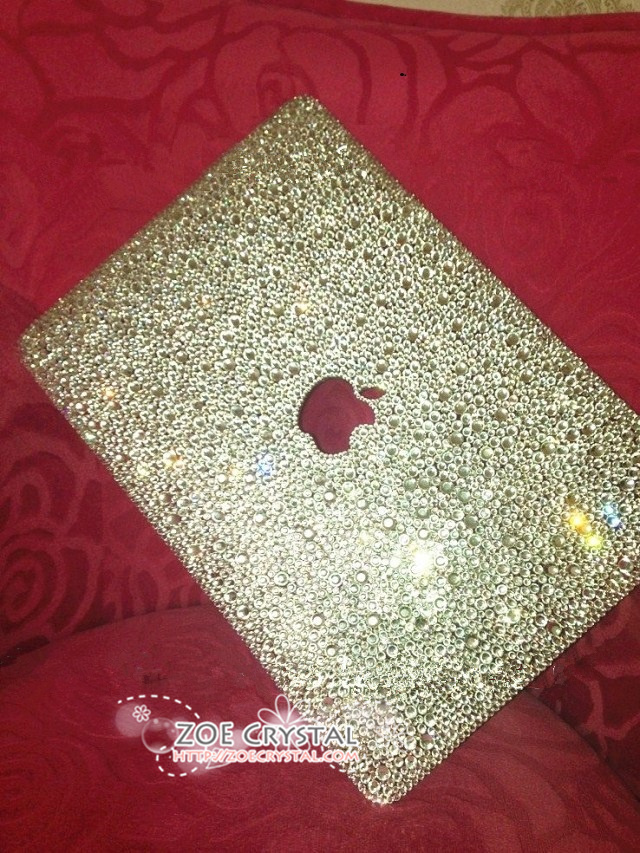 Bling And Stylish Macbook Pro Air Retina White Crystal