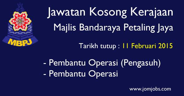 Jawatan Kosong MBPJ 2015 Terkini - Majlis Bandaraya Petaling Jaya