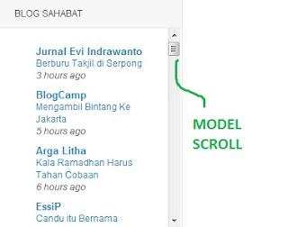Model Scroll untuk Brogroll