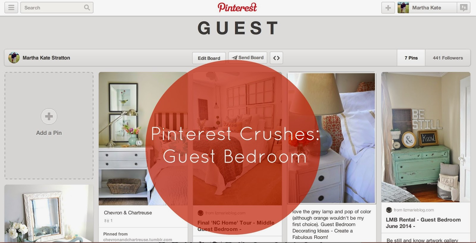 Pinterest Crushes: Guest Bedroom