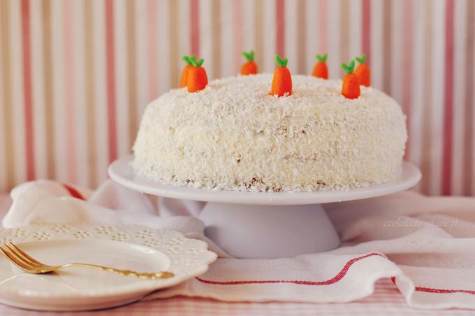 tort, marchewkowy, krem, mascarpone, na urodziny, na imprezę