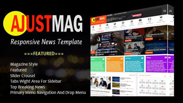 Ajustmag responsive blogger template