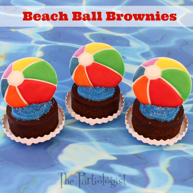 The Partiologist Beach Ball Brownies