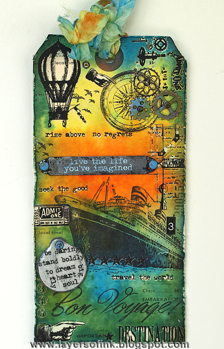 12 tags of 2013 May - Layers of ink