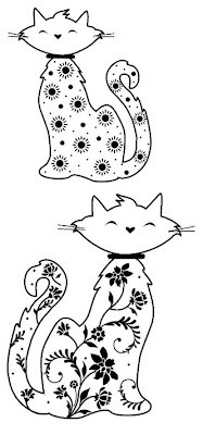 gatos para bordar