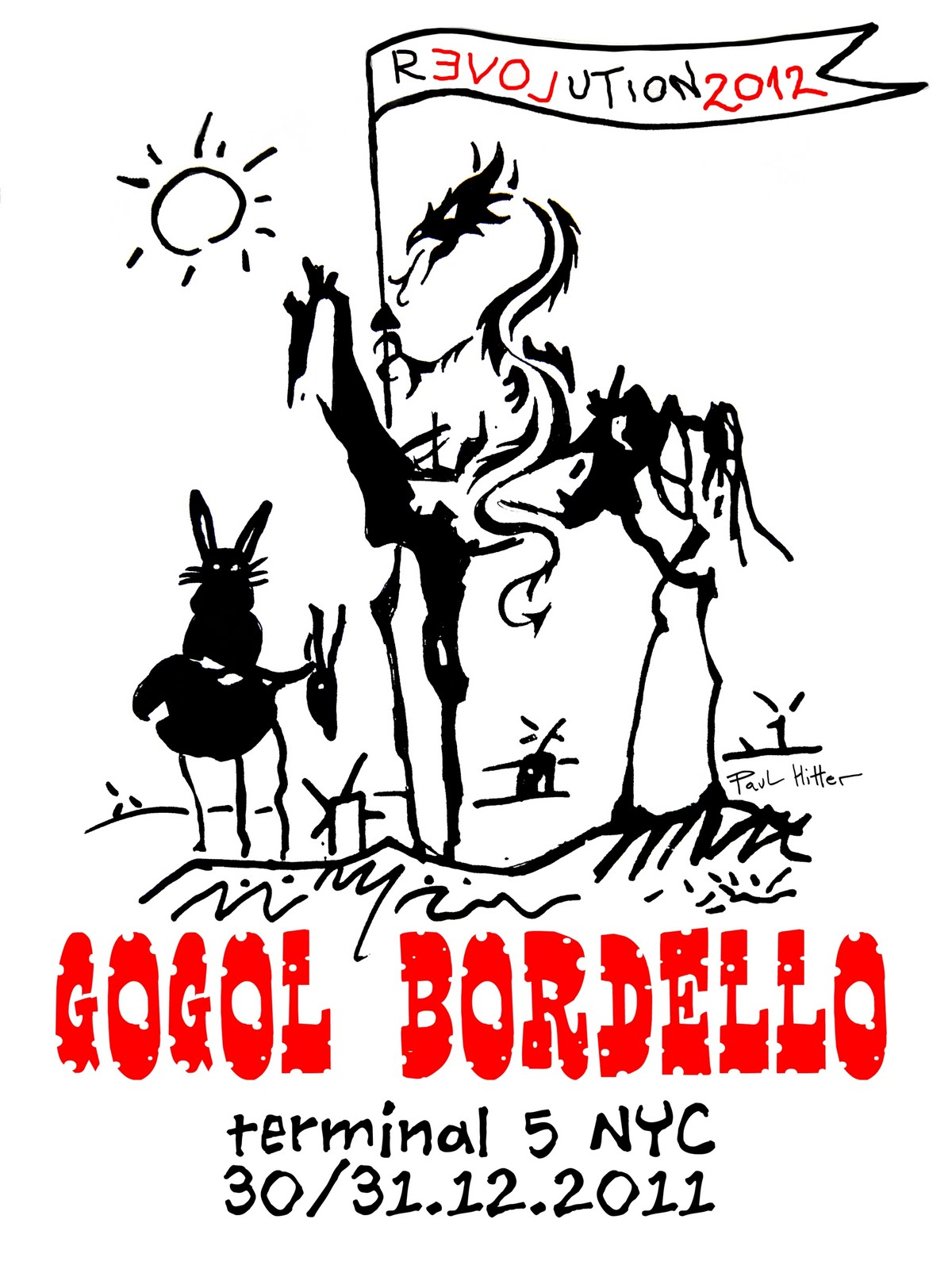 One And Only Paul Hitter: poster for Gogol Bordello new years eve ...