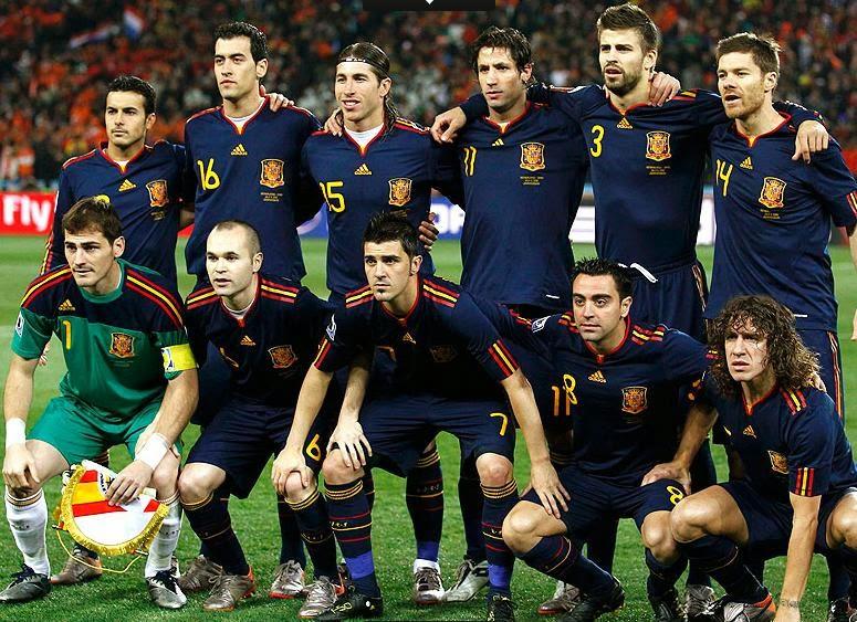 Time base Espanha campeão copa do mundo 2010.