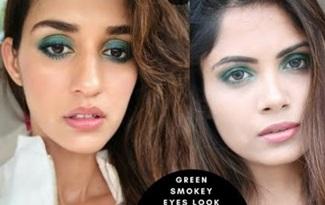Makeup Look Inspired By Disha Patani / Green smokey Eyes Look