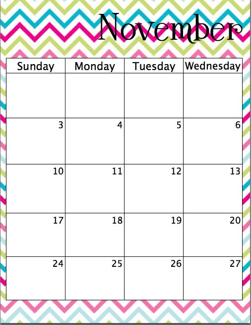 simply the middle bright chevron academic calendar printable