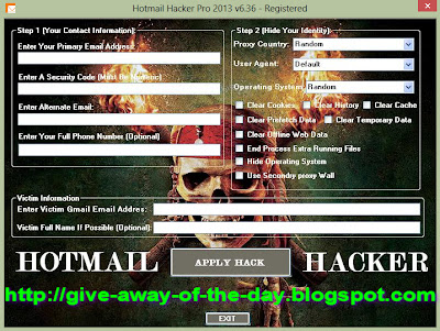 Hotmail Hacker Pro 2013