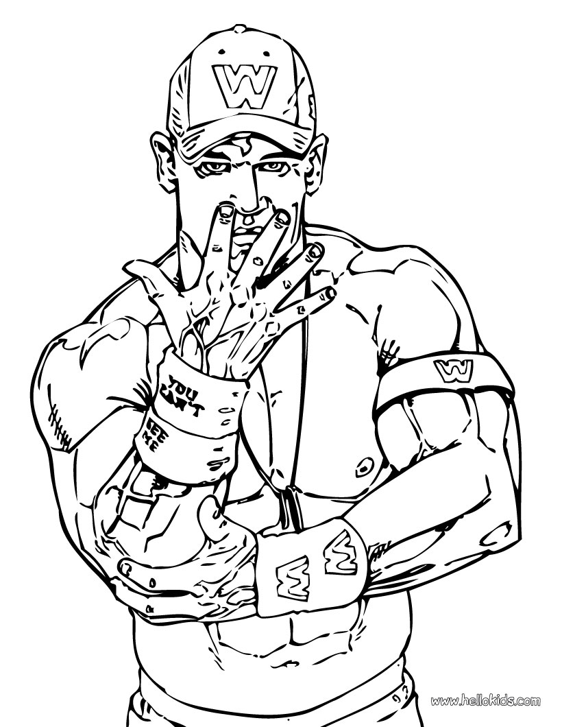 coloring pages wwe - photo#6