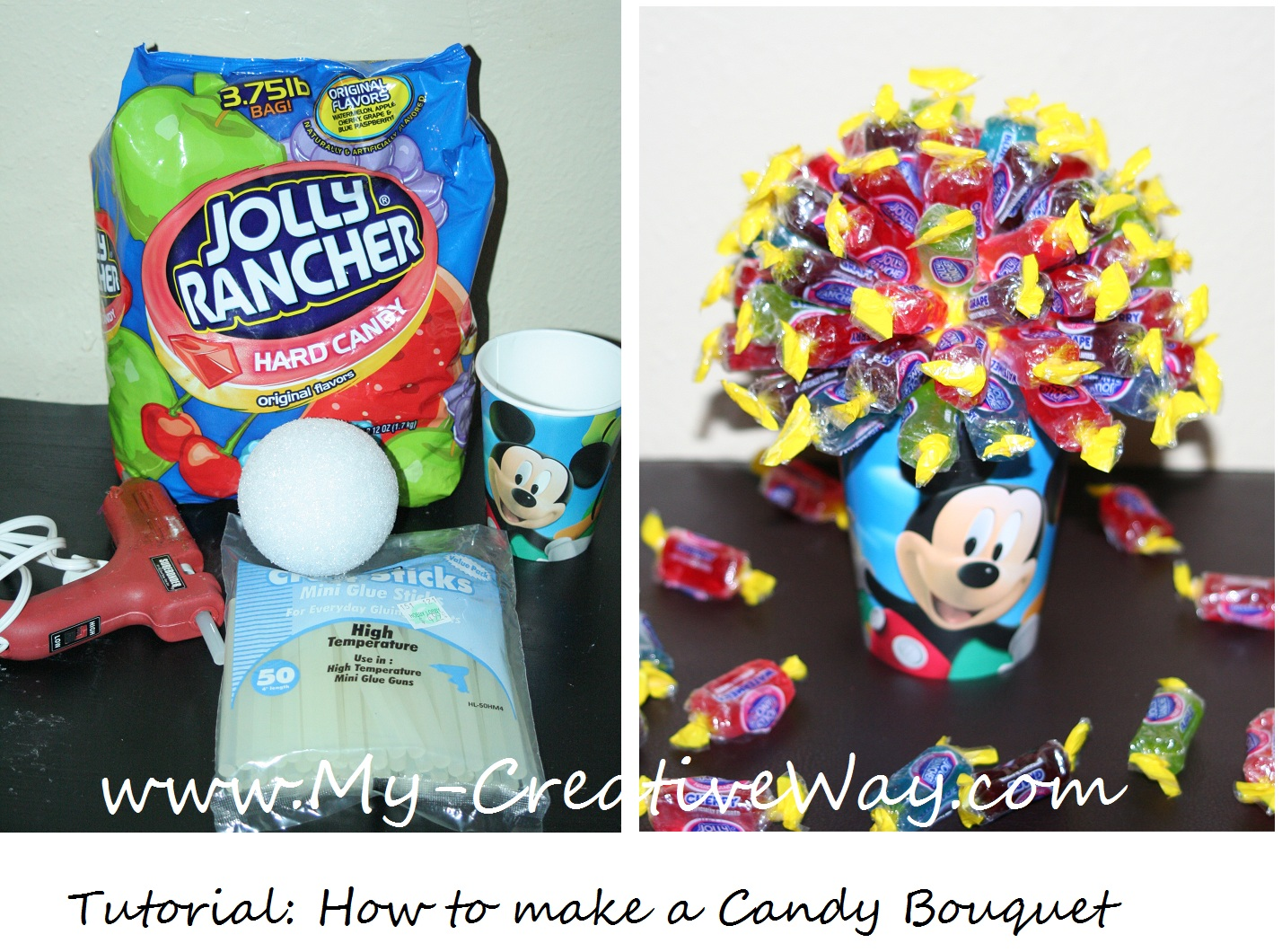How to Make a Jolly Rancher Candy Bouquet