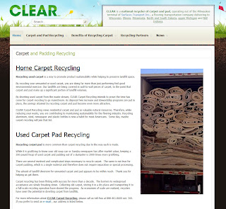 CLEAR says Recycling, an Attractive Method for Handling Carpet Waste