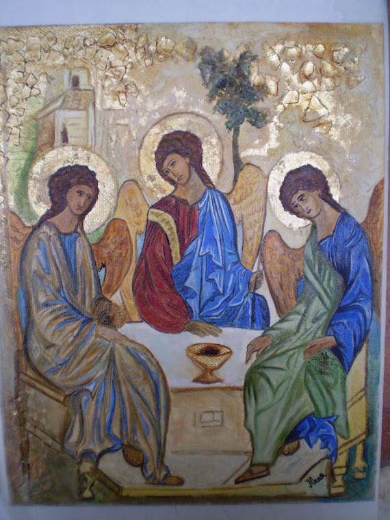 Mystery of the Trinity, hand painted, copy the work of Andrei Rublev