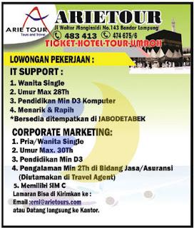 Karir Lampung, Arie Tour & Travel