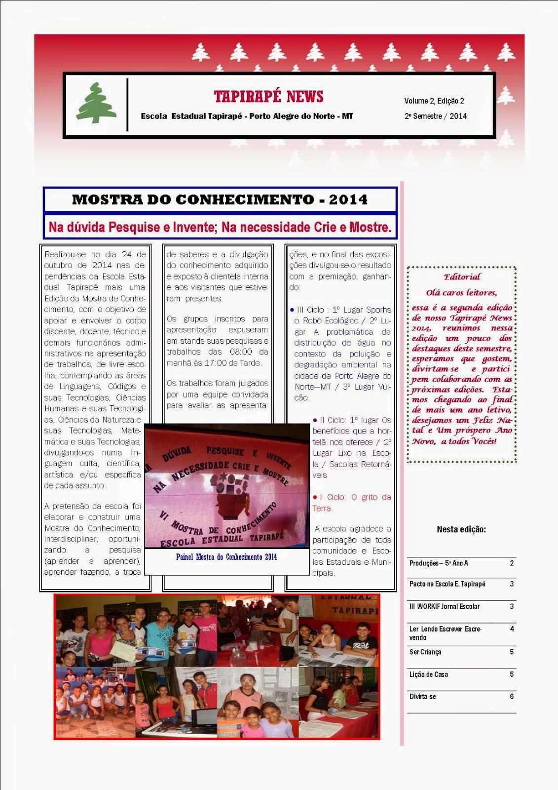 TAPIRAPÉ NEWS - 2ª Edição 2014