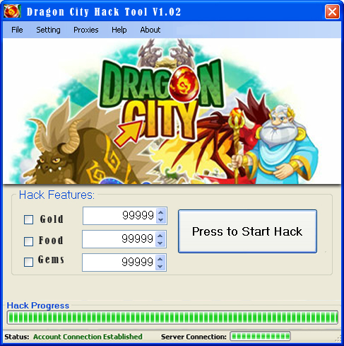 Dragon City Cheat Engine Hack Tool Features: