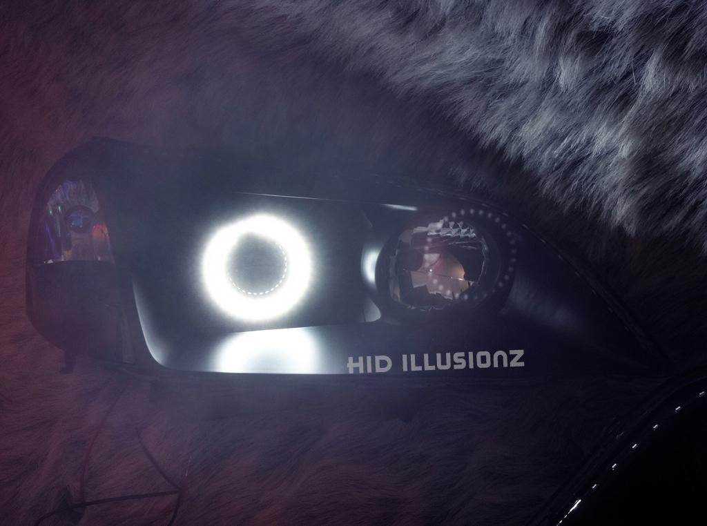 HID ILLUSIONZ Acura CL TypeS LED Custom Angel Eyes S Combo - 2001 acura cl headlights