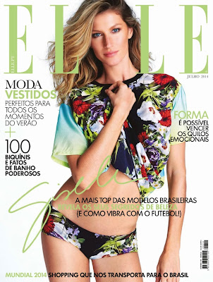 Gisele Bundchen Photos from Elle Argentina Magazine Cover July 2014 HQ Scans
