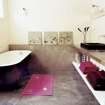 Baño Suelo Hormigón pulido