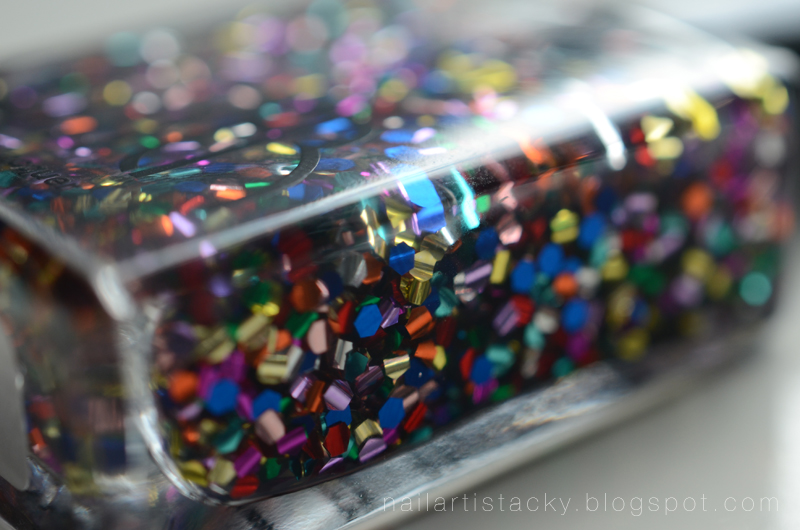 American Apparek Galaxy Glitter Review Nail Polish
