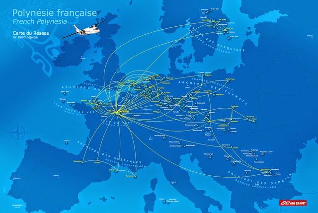 Hasta el infinitoy ms all polinesia francesa 21 das en el realmente polinesia es bastante extensa y en este mapa podis ver la superficie que ocupa comparada con europa tahiti se sita en pars gumiabroncs Image collections
