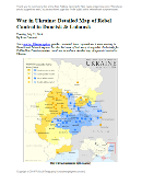 etailed map of rebel control in Ukraine's eastern provinces of Donetsk and Luhansk, claimed by the breakaway Donetsk People's Republic and Lugansk People's Republic. Updated to July 22, 2014
