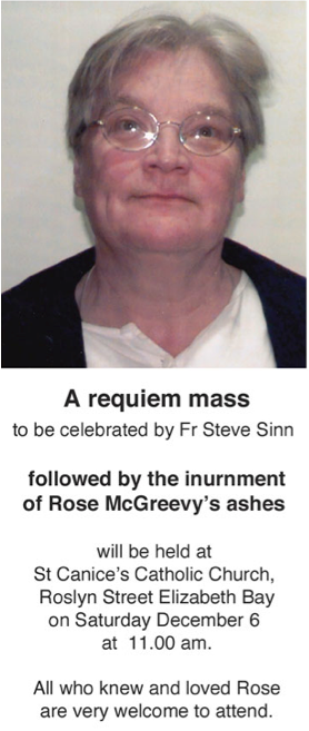 An installation made in honour of Rose will open at at Factory 49 Wednesday 26 November