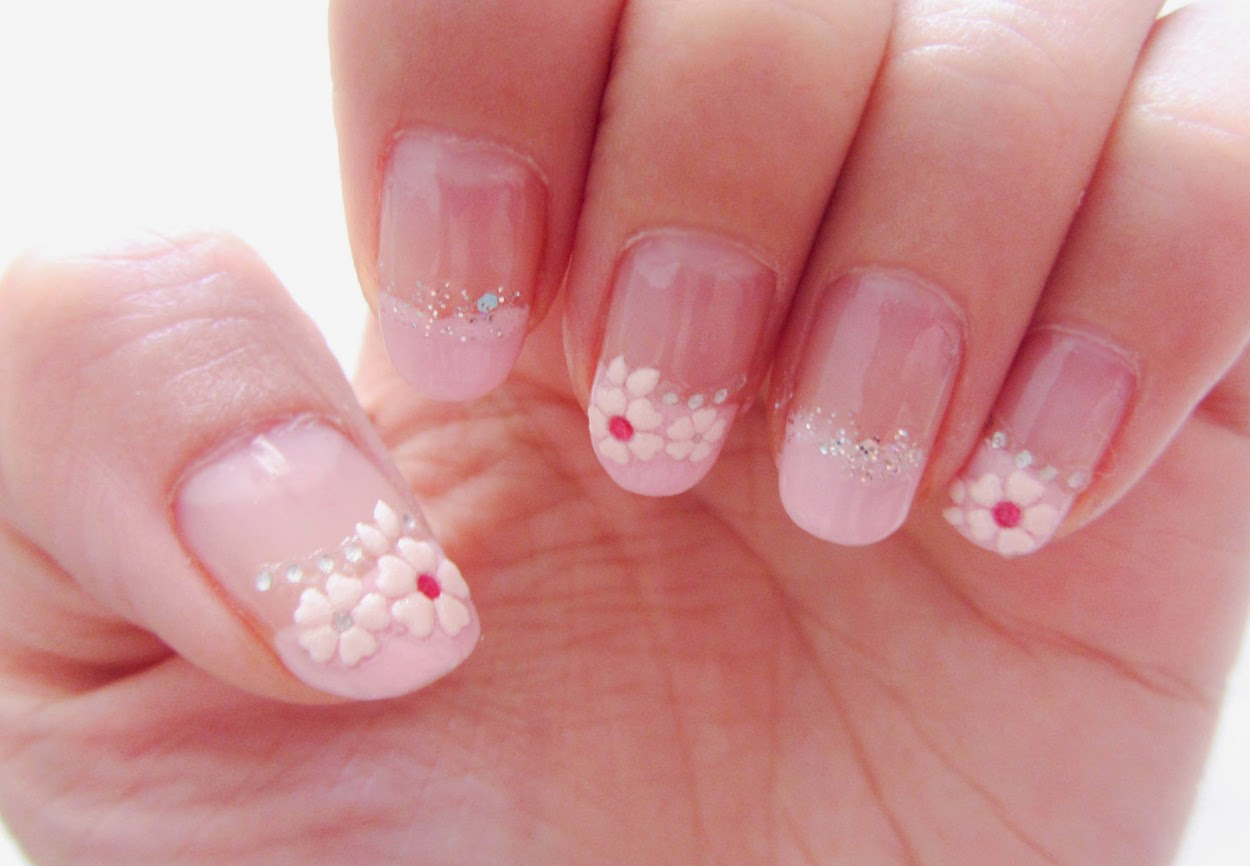 Glitter Side French Manicure – EdPeer
