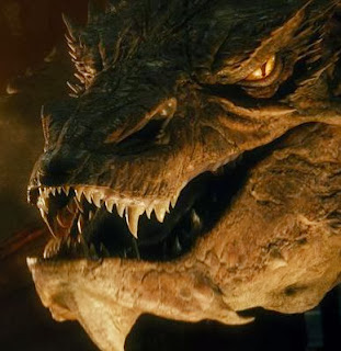 Smaug voiced by Benedict Cumberbatch from the BBC's Sherlock