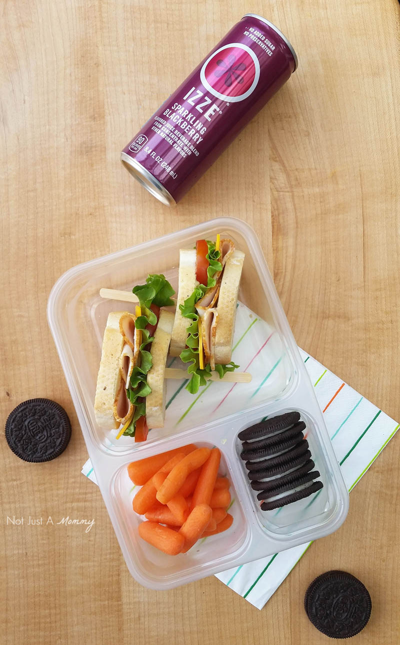 Make Lunch  Easy With Foster Farms; sandwich with an Izze