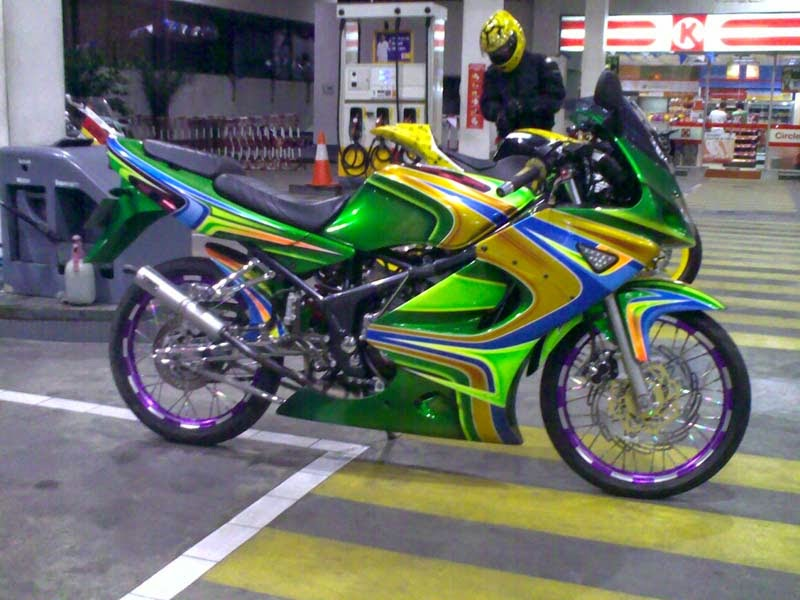 Top modifikasi motor ninja rr terbaru