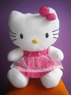 Boneka hello kitty dress pink