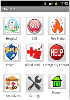 EContact Android Project,Android Project,Emergency Response Teams,EContact ,LIFE SAVER android apps,econtact apps,google map project,contact project,college project