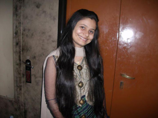 long hair Indian girl with cute smiling face