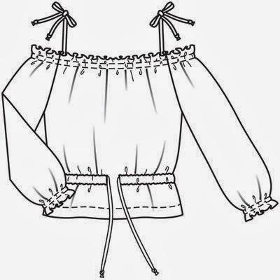Как сшить блузку испанку 70