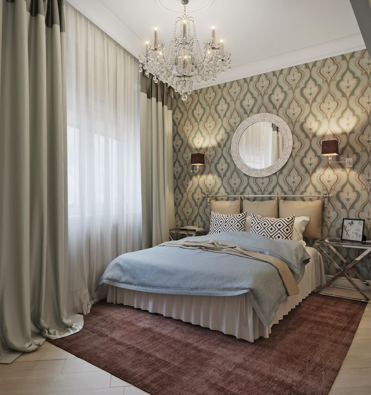 Дизайн спальни 2 на 4 фото