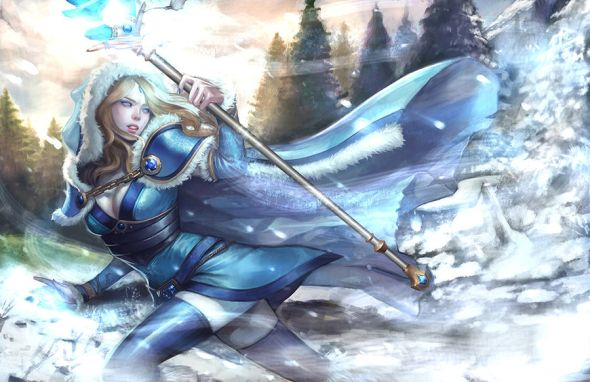 Noa Ikeda deviantart illustrations women female characters fantasy Crystal Maiden