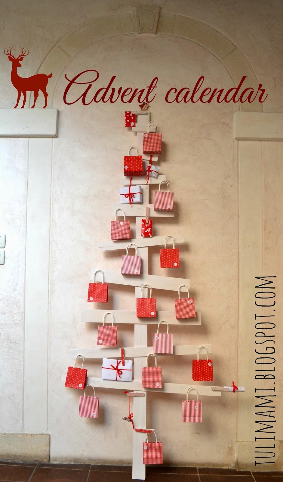 natale idee calendario avvento : te di oggi ? un albero di legno che diventa calendario dell?avvento ...