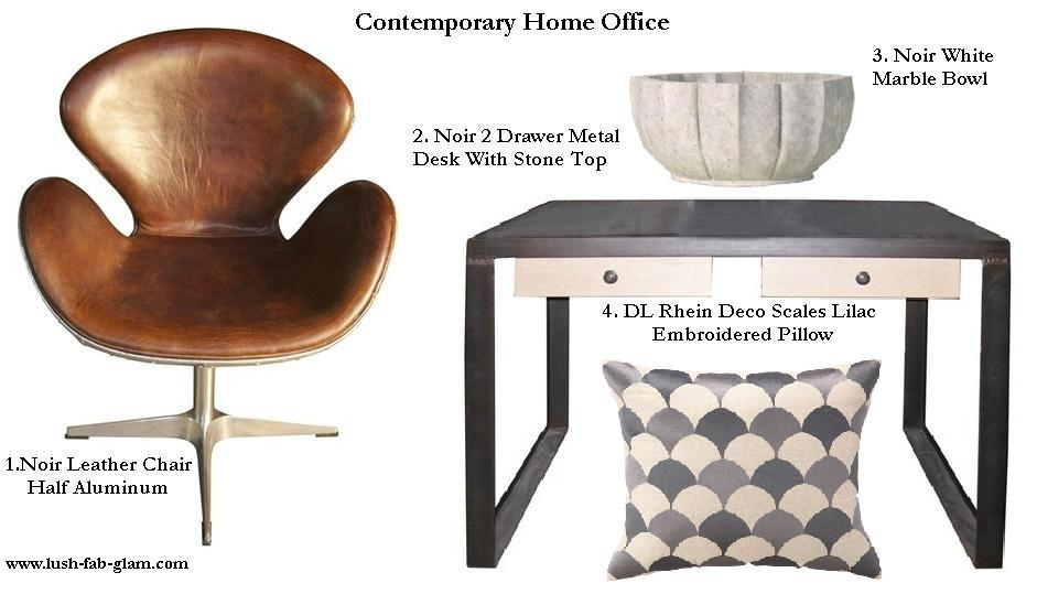 read on to see our contemporary rustic chic and traditional home office decor ideas and how you can get the fabulous items featured for your own home beautiful home office makeover